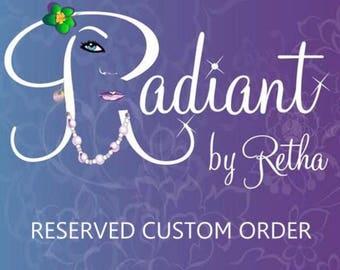 RESERVED ORDER - Royal Blue and White Pearl Bracelet