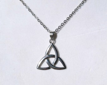 Celtic Triquetra Sterling Silver Pendant Necklace, Celtic Trinity Knot, Irish Jewelry