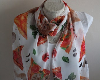 Pizza Cat Scarf Cat Scarf Animal Scarf Birthday Gift Cat Lover Gift Christmas Gift For Her Pet Mom