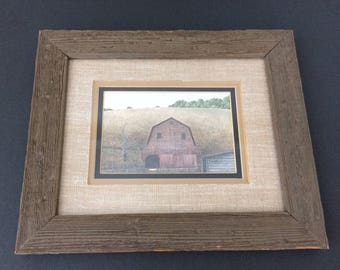 vintage watercolor of Great Smokey Mountains barn