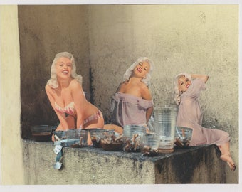 Jayne Mansfield Pinup Original Paper Analogue Collage