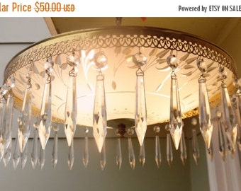 ON SALE Vintage John Virden Mid Century Modern Ceiling Fixture Flush Mount Interior, Made in Cleveland Ohio, USA