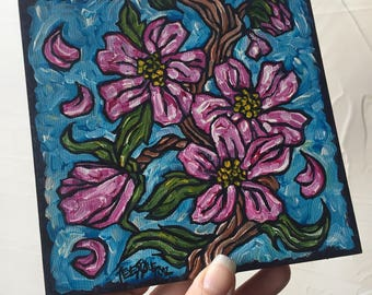 Cherry Blossom Vine original painting