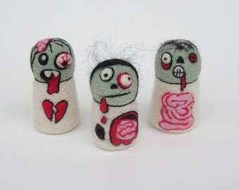 NEEDLE FELTING TUTORIAL / Zombie Fuzz Butts / Downloadable Pictorial and Instructions / Learn how to needle felt zombies / zombie tutorial