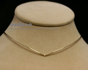10PCS-1.3mm Bright Gold Plated Brass Wire Blank Collar choker Necklaces,Wire Chain (E370G)
