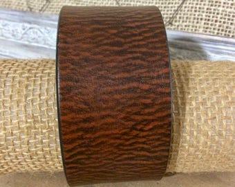 Unisex Leather Cuff - Rustic Statement Bracelet - Distressed Leather Cuff - Rugged Cuff - Indie Jewelry - Leather - Western