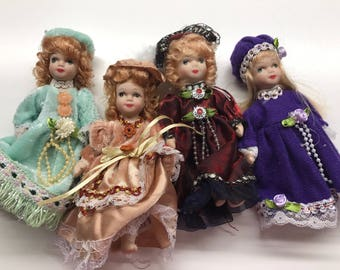 Dollhouse dolls - lot of four