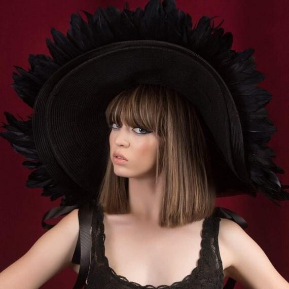 Irina Shabayeva Feather hat. Comes in custom colors ..