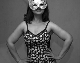 Lace & Skulls Bodysuit