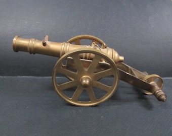Brass Cannon Desktop Decor paperweight  or Toy Cannon