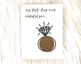 will you be my Bridesmaid? - scratch off card - black white - hipster modern wedding