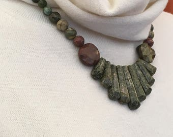 Jasper, magnetic clasp Necklace (Nr. 19)