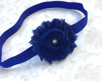 Royal Blue Headband. Blue Headband. Baby Girl Headband, Infant Headband, Baby Shower Girl Gift, Wear Home Headband, Nylon Headband