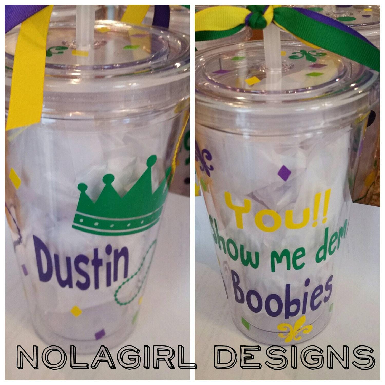 Decorating Plastic Tumblers Mardi Gras Cup Nola Parade Drink Tumblers Vinyl Decorated