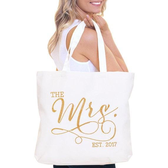 Bride Bag The Mrs Tote Bag Jumbo Bride S Tote Bridal