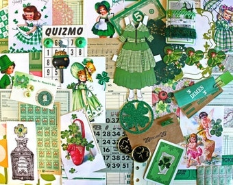 Green Inspiration Kit*St. Patrick's Day Paper Pack*Green Embellishments
