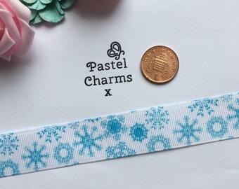 Snowflake ribbon x  2 yards 23mm wide x
