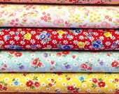 Old New 30s - Reproduction Fabric - Lecien Fabric - Red Fabric - Pink Fabric - Aqua Fabric -31523