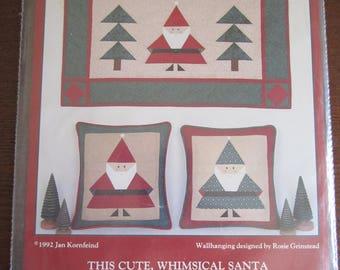 Little Pieced Santa Wall Hanging/Pillow Patterns