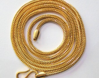 Vintage solid 22K Gold Handmade jewelry Chain necklace