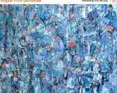 MOVING SALE Abstract in Blues Painting, Original Acrylic Art, Blues, 16x20 inches Fine Art, Figurative Abstract