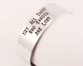 Stamped bracelet/Metal Bracelet/Cuff Bracelet/Man's Bracelet/Women's Bracelet/Hammered Jewelry/Unisex bracelet/Aluminium bracelet/Lotr cuff