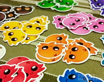 10 PIECE SET: Cute Minipus Stickers - Kawaii Chibi Octopus Adhesive Decals