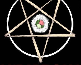 Sushi Pentagram Fine Art Print