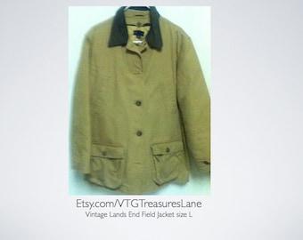 Vintage Lands End Field Jacket size L