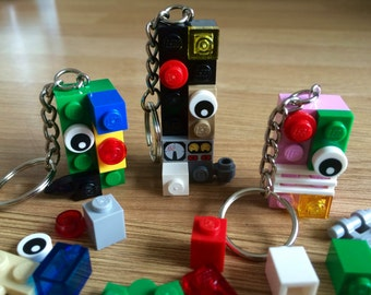 Lego Keyring, Monster Alien Decorate your own, Childrens Party Bags, Wedding Favours, Christmas Stockings