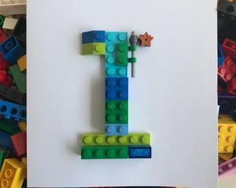 Lego Birthday Card 1st, 2nd, 3rd 4th, 5th, 6th, 7th, 8th, 9th, 10th, 11th, 12th, 13th, 14th, 15th 16th, 18th, 20th fun different