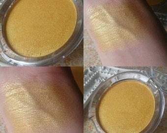 Gold in them Cheeks Glow- Tater Tot Highlight Powders - Highlighter Glow Golden Metallic Contour Face Vegan - Shimmer Powder Mineral Makeup