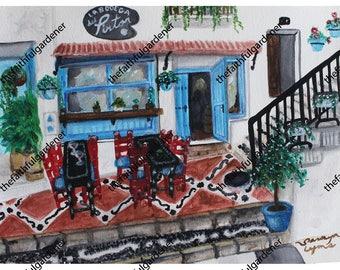 La Bodega Del Pintor Watercolor Art Print