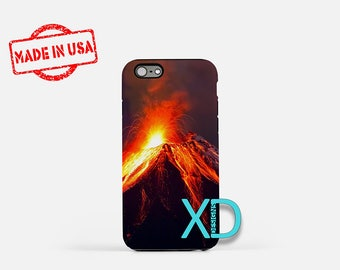 Volcano iPhone Case, Lava iPhone Case, Lava Eruption iPhone 8 Case, iPhone 6s Case, iPhone 7 Case, Phone Case, iPhone X Case, SE Case New
