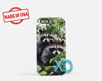 Raccoon iPhone Case, Animal iPhone Case, Raccoon iPhone 8 Case, Animal iPhone 6s Case, iPhone 7 Case, Phone Case, iPhone X Case, SE Case
