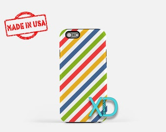 Rainbow Candy Cane iPhone Case, Multicolor iPhone Case, Candy iPhone 8 Case, iPhone 6s Case, iPhone 7 Case, Phone Case, Safe Case, SE Case