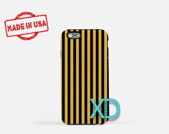 Vertical Stripe Phone Case, Stripe iPhone Case, Mustard iPhone 8 Case, iPhone 6s Case, iPhone 7 Case, Phone Case, iPhone X Case, SE Case