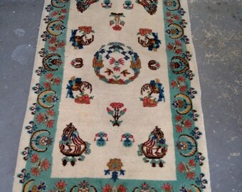 CLEARANCE 1950s Hand-Knotted Turkish Rug (3446)