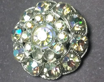 "Was 6.99!  Gorgeous 1"" Rhinestone Button"