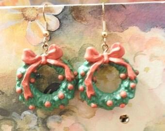 Vintage Jewelry Wreath Earrings