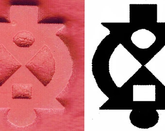 Petite African Adinkra Stamp - BOAME NAME MMOAWO Help Me & Let Me Help You - Clay/Textiles/Stamp - Interdependence / Cooperation Small Stamp