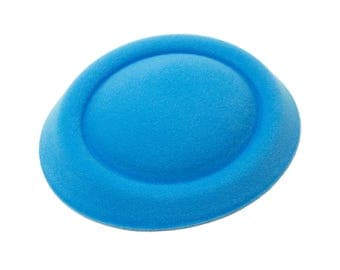"6 1/2"" Aqua Blue Oval Pillbox Stewardess Fascinator Millinery Hat Base - Available in 16 Colors"