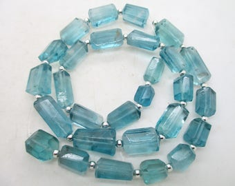 16'' Stunning Chunky open blue nugget shaped polished faceted  flourite beads Afghanistan F83