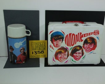 1960's King/Seely Monkees Vinyl Lunchbox and Thermos