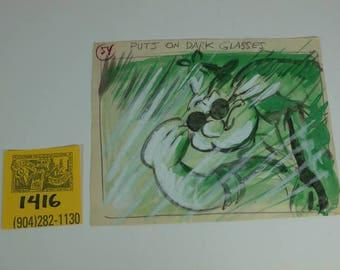 "1950's Popeye ""Popeye Private Eye""- Original production artwork for cartoon"