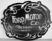 CUSTOM Large Ford Motor Co Sign