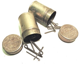 Campbell Cotter Pin Containers 1912 Auto Maintenance Supply