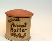 Peanut Butter // Made to Order // Kitchen Toy // Wooden Play Food // Waldorf Education // Imaginative Play // Wooden Kitchen Toy