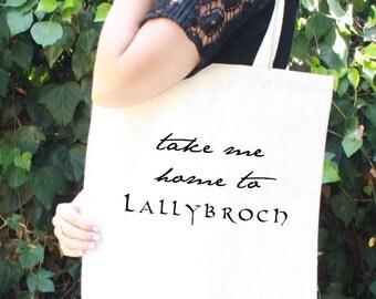 Fraser Tote Bag - Take Me Home to Lallybroch - Claire and Jamie Fraser - Diana Gabaldon