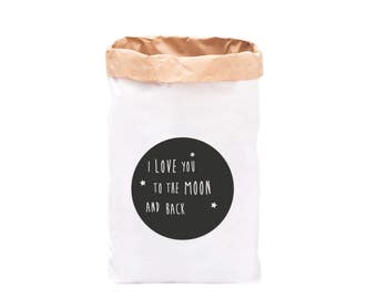 Paperbag I love you to the moon and back